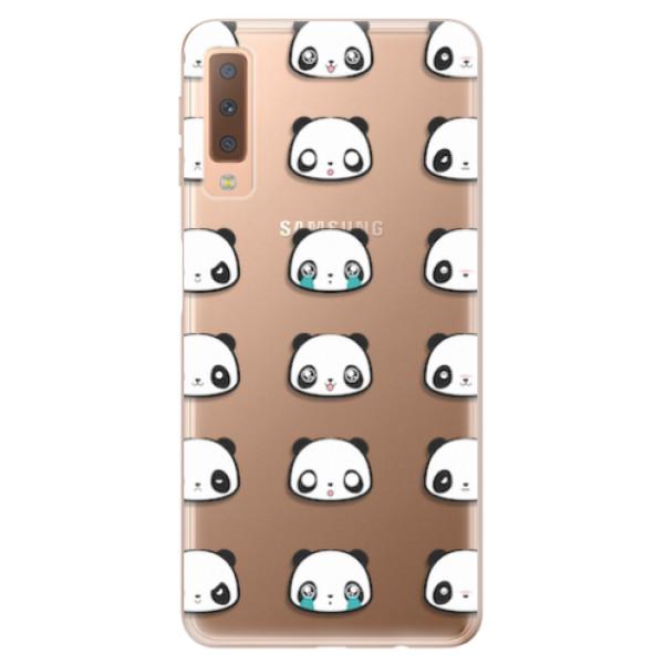 Odolné silikonové pouzdro iSaprio - Panda pattern 01 - Samsung Galaxy A7 (2018)