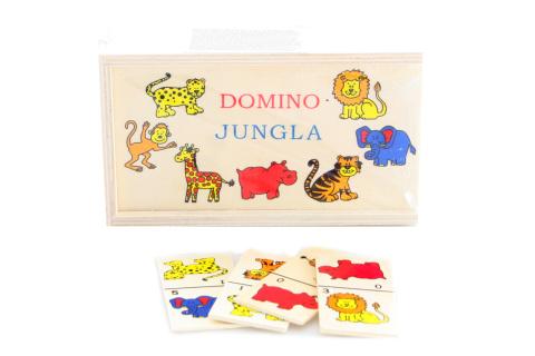 Dřevěné domino džungle