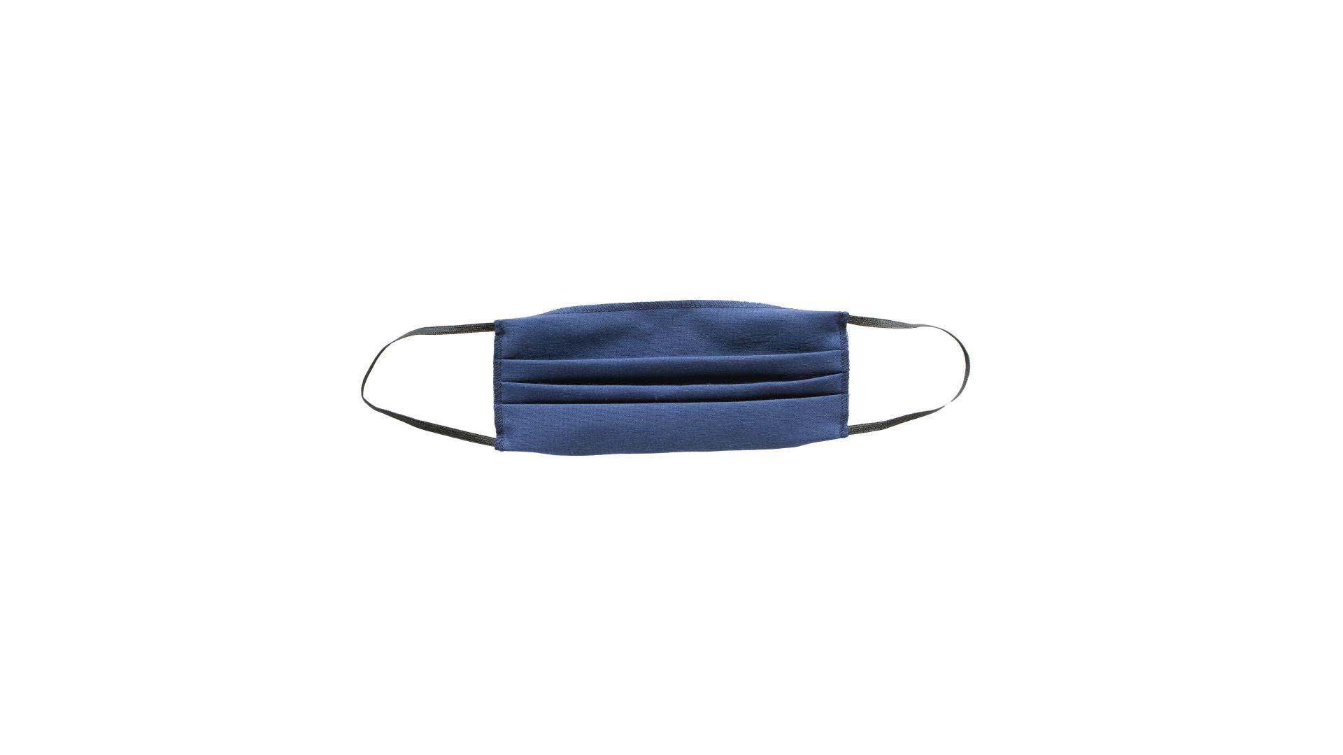 4CARS Dvouvrstvé ochranné bavlněné rouško modré bez vzoru s gumičkou 1ks