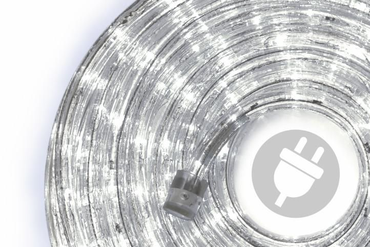 LED světelný kabel - 240 diod, 10 m, studeně bílý