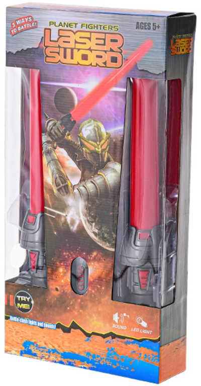 Meč vesmírný světelný 2v1 na baterie Světlo Zvuk plast v krabici