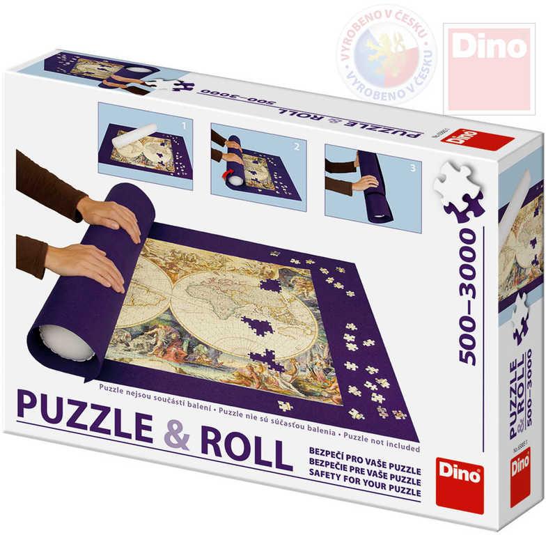 DINO Podložka na skládání a úschovu puzzle nová rolovací pro 500-3000 dílků