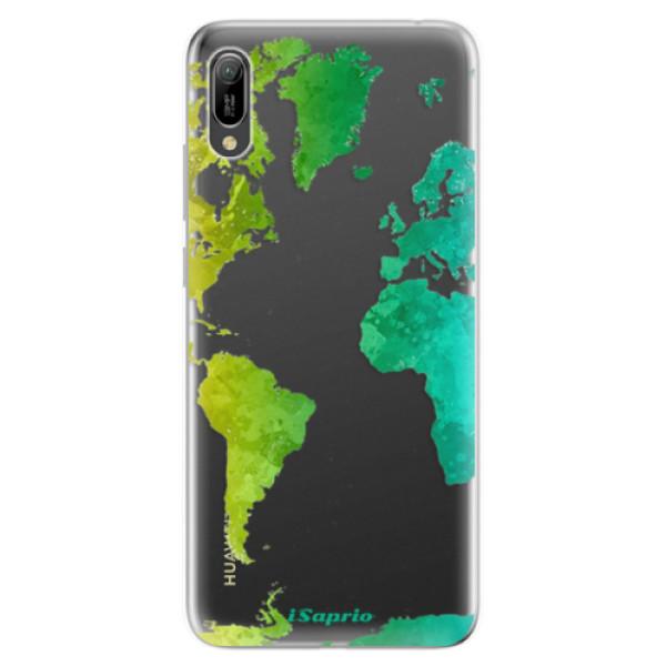 Odolné silikonové pouzdro iSaprio - Cold Map - Huawei Y6 2019