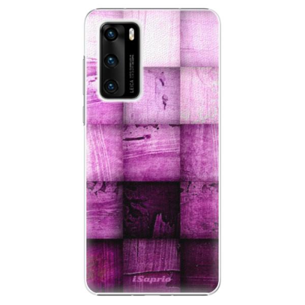 Plastové pouzdro iSaprio - Purple Squares - Huawei P40
