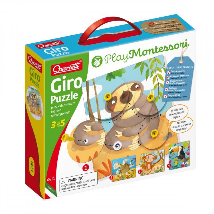 Quercetti Giro Puzzle spinning puzzle – otáčivá skládačka