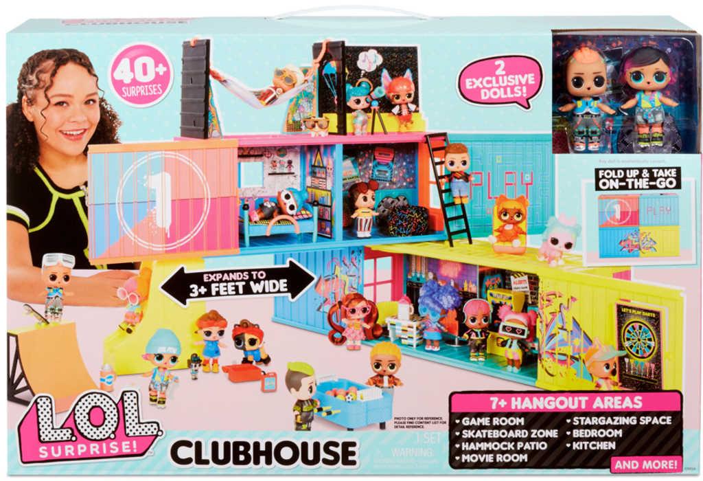 L.O.L. Surprise Clubhouse set 2 panenky s doplňky v rozkládacím kontejneru