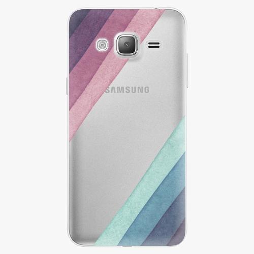 Plastový kryt iSaprio - Glitter Stripes 01 - Samsung Galaxy J3 2016