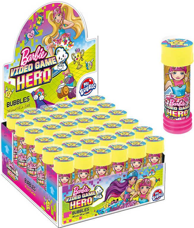 Bublifuk dětský BRB Barbie Hero 55ml s hlavolamem