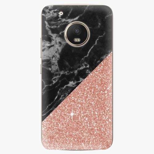 Plastový kryt iSaprio - Rose and Black Marble - Lenovo Moto G5 Plus