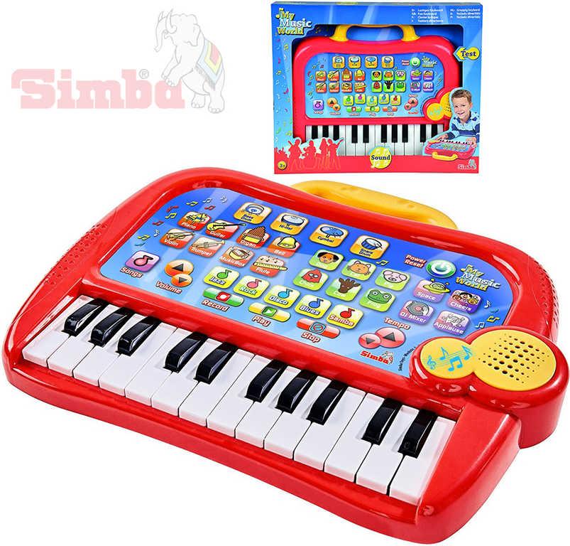 SIMBA Piano dětské klávesy elektronické 31cm funny keyboard zvířecí zvuky