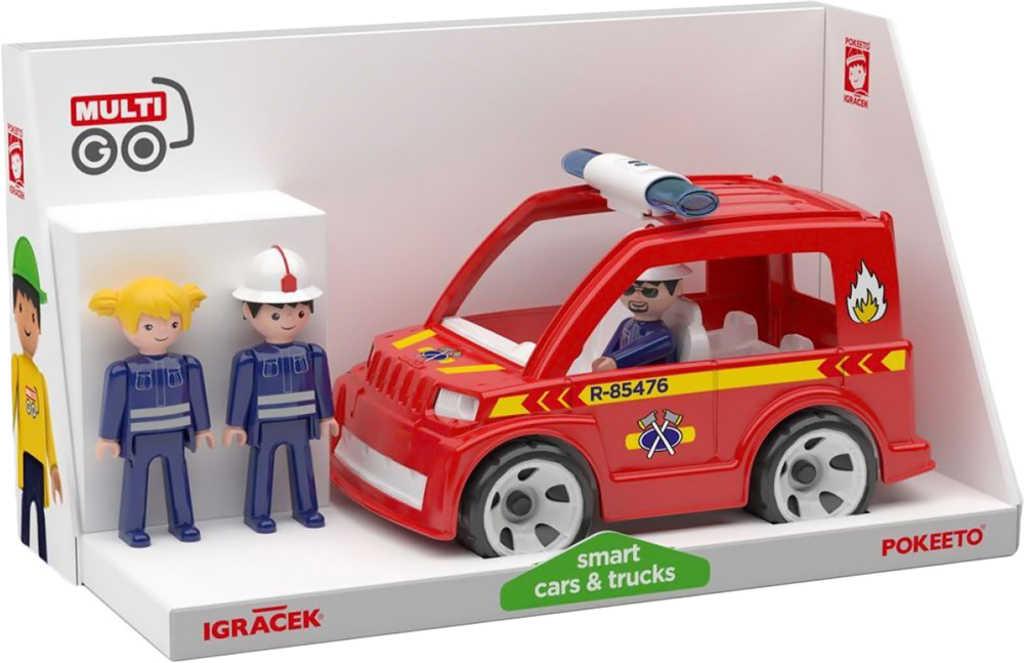 EFKO IGRÁČEK MultiGO Trio Fire set auto hasičské + 3 figurky s doplňky