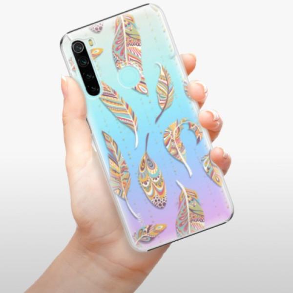 Plastové pouzdro iSaprio - Feather pattern 02 - Xiaomi Redmi Note 8