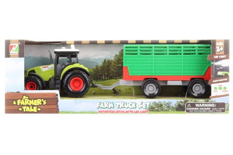 Traktor s vlečkou na baterie