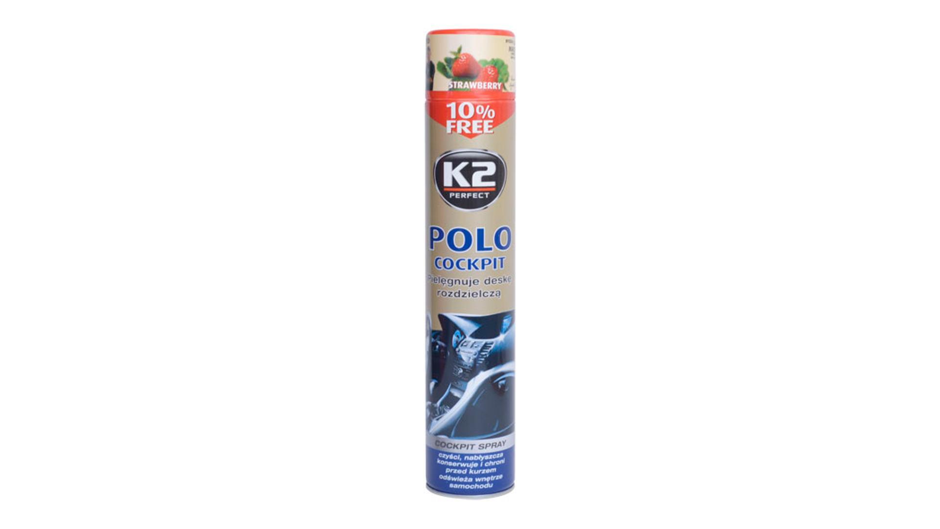 K2 POLO COCKPIT 750ml STRAWBERRY - ochrana vnitřních plastů
