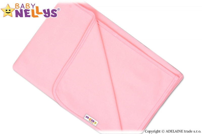 Deka/dečka polar Feel Baby Nellys ® - růžová - 75 x 100 cm