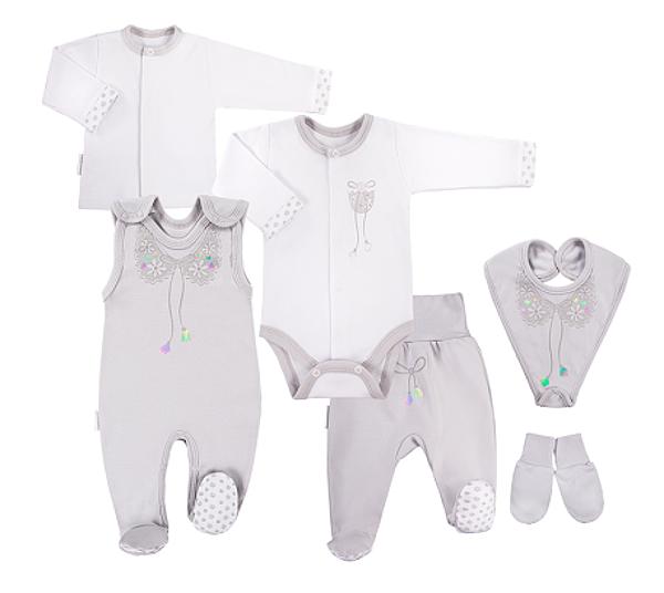 EEVI 6-ti dílná kojenecká soupravička do porodnice Mašlička