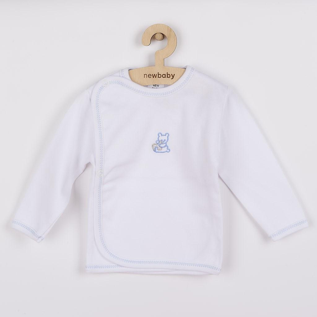 Kojenecká košilka s vyšívaným obrázkem New Baby - modrá/50