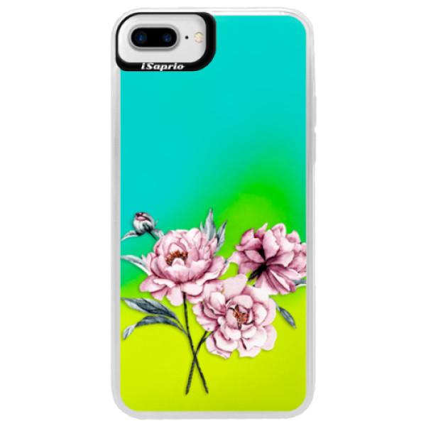 Neonové pouzdro Blue iSaprio - Poeny - iPhone 7 Plus