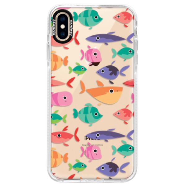 Silikonové pouzdro Bumper iSaprio - Fish pattern 01 - iPhone XS Max