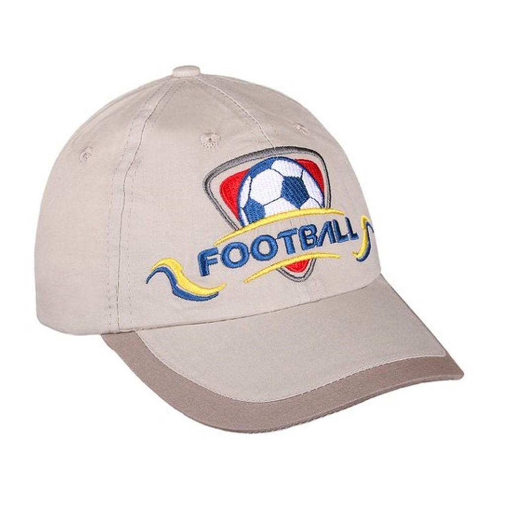 Letní dětská kšiltovka New Baby Football2 - béžová/110 (4-5r)