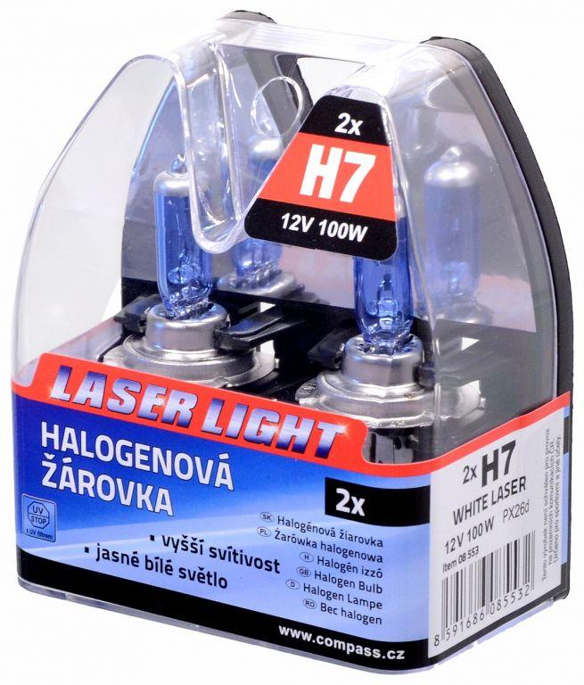 Žárovka 12V H7, 100W PX26d WHITE LASER - 2ks