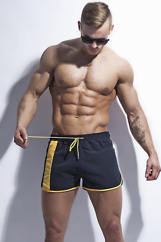 Pánské šortky Alpha Male Curso dark - Dark/M