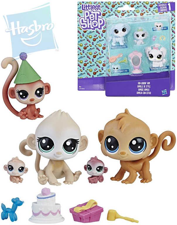 HASBRO LPS Littlest Pet Shop Rodinné balení set zvířátko 4ks s doplňky - 2 druhy