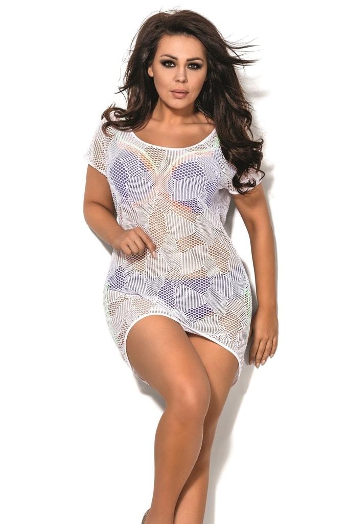 Plážové šaty SP1 plus white