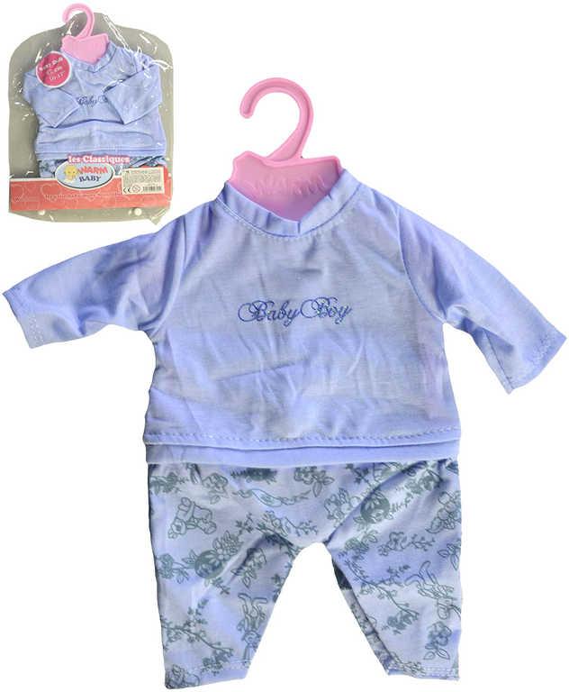 Oblečení pro panenku miminko 42cm dupačky modré set s ramínkem v sáčku