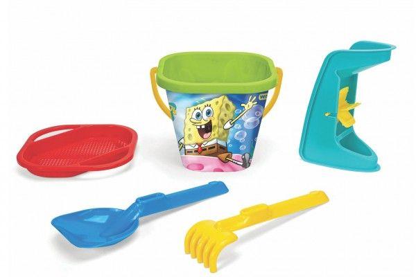 Sada na písek 5 ks Sponge Bob plast 3 druhy v síťce