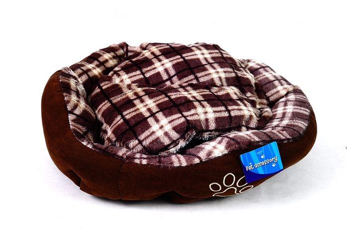Hnědý psí pelech - 45x40 cm