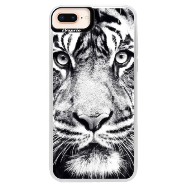Neonové pouzdro Pink iSaprio - Tiger Face - iPhone 8 Plus