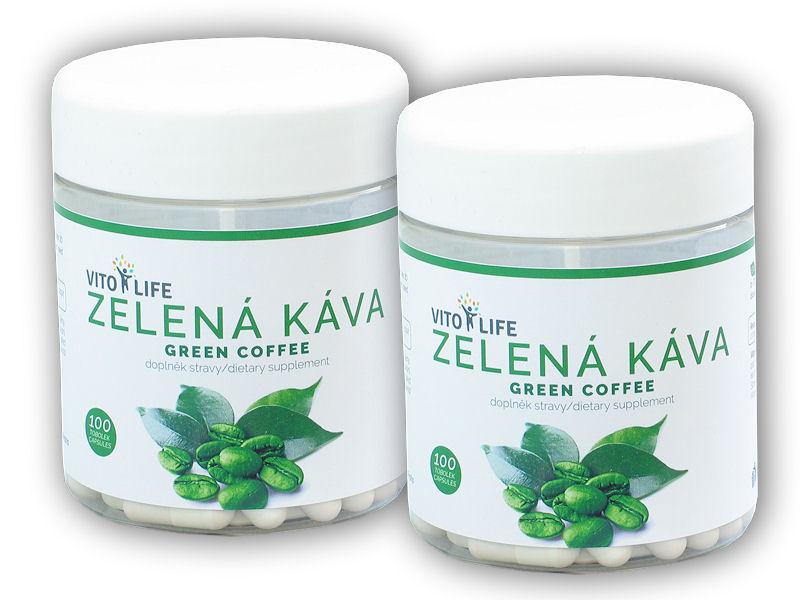 2x Zelená káva 100 kapslí green coffee