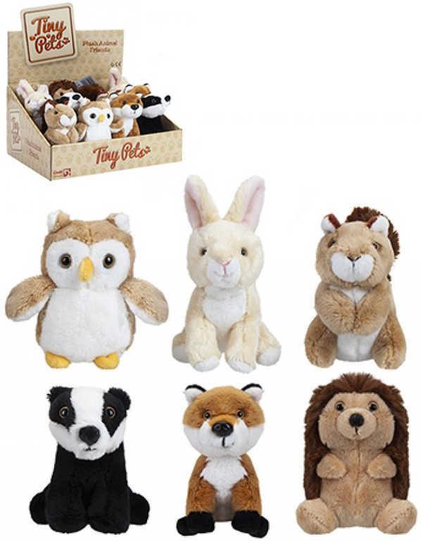 PLYŠ Zvířátka lesní Tiny Pets 12cm různé druhy *PLYŠOVÉ HRAČKY*