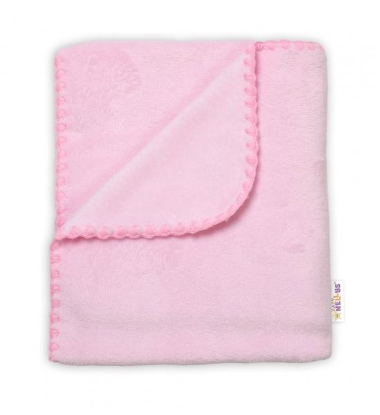 Baby Nellys Dětská Coral deka - Dual pack, 80x90 cm, Hvězdička, růžová