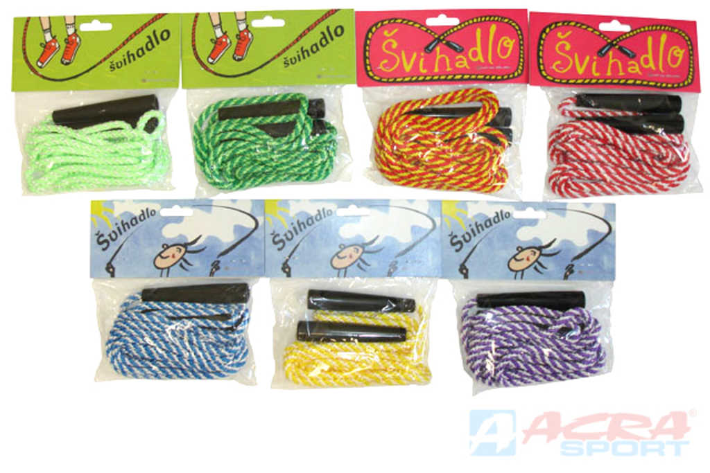 ACRA Švihadlo 3m jednobarevné různé barvy v sáčku
