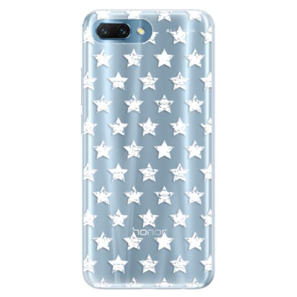 Silikonové pouzdro iSaprio - Stars Pattern - white - Huawei Honor 10