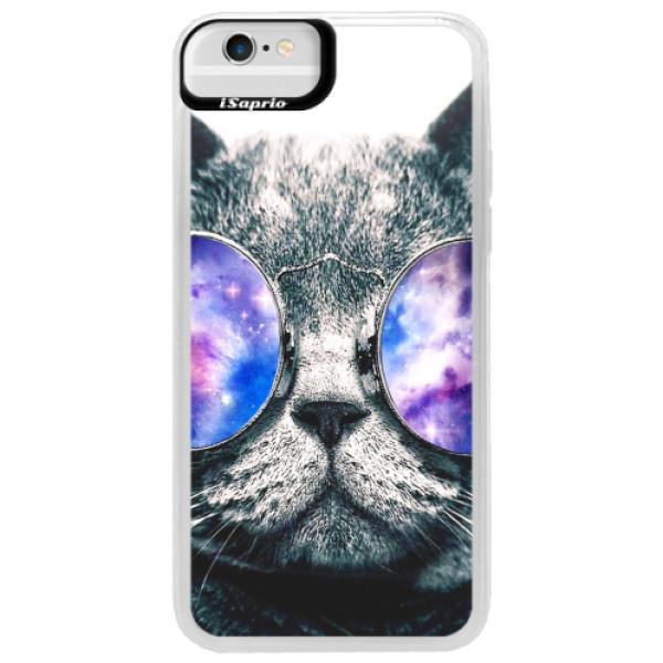 Neonové pouzdro Blue iSaprio - Galaxy Cat - iPhone 6/6S