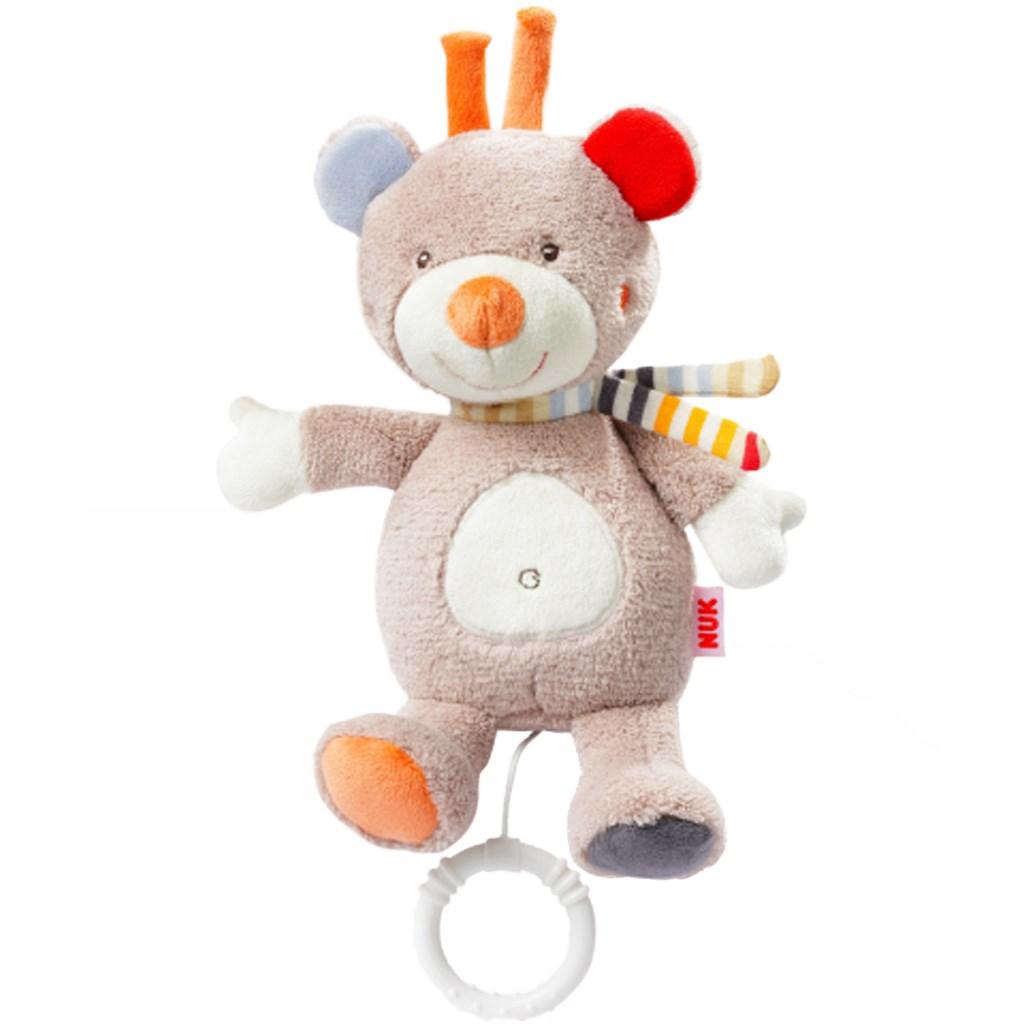 Dětská plyšová hrající hračka Nuk - méďa - béžová