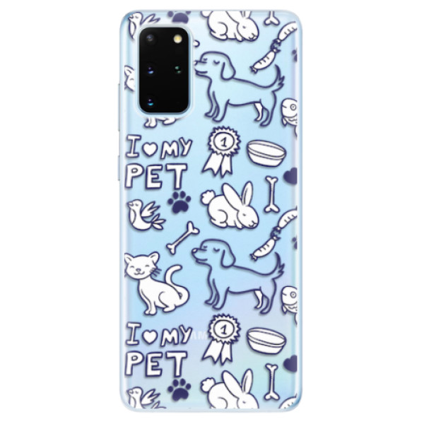 Odolné silikonové pouzdro iSaprio - Love my pets - Samsung Galaxy S20+