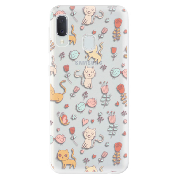 Odolné silikonové pouzdro iSaprio - Cat pattern 02 - Samsung Galaxy A20e