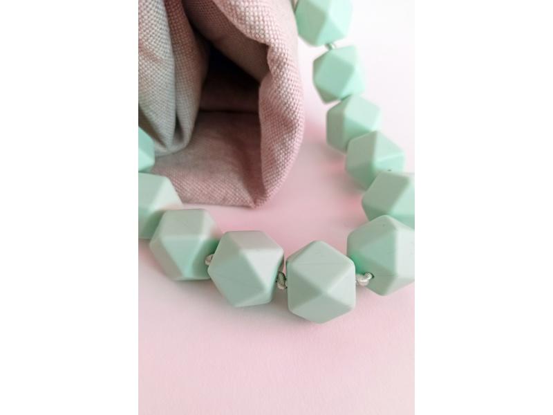 MIMIKOI - Kojící korále pastelově modré kameny