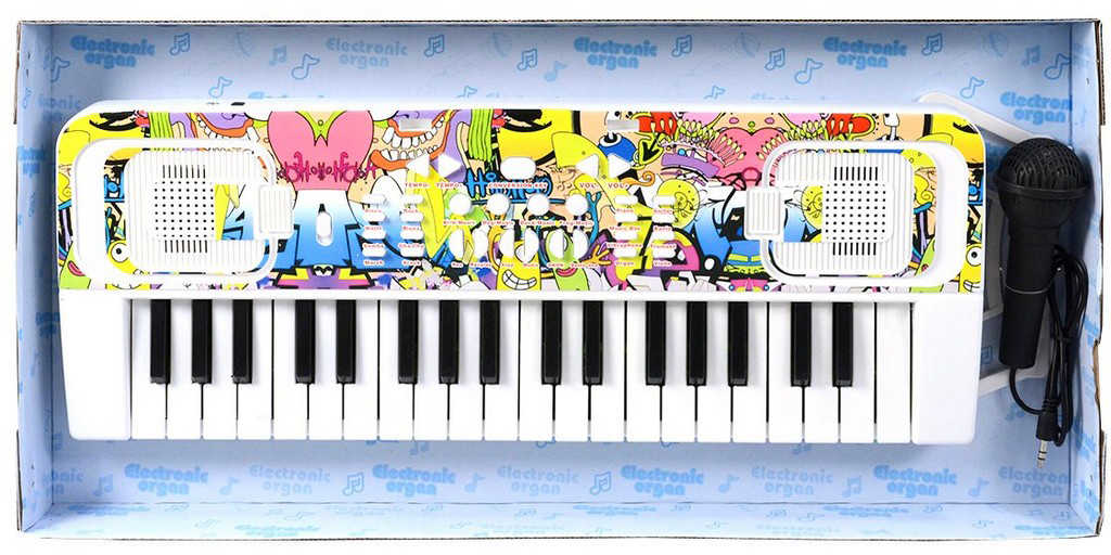 Piáno dětské elektronické 42cm 32 kláves keyboard na baterie Zvuk *HUDEBNÍ NÁSTROJE*