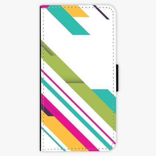 Flipové pouzdro iSaprio - Color Stripes 03 - iPhone 7 Plus