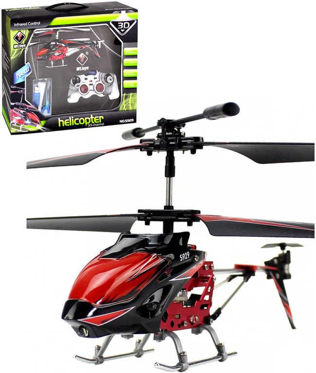 IR Vrtulník na dálkové infra ovládání na baterie 30cm USB dobíjení 3 barvy v krabici