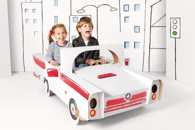 Dětské kartonové auto Cabrio Tektorado