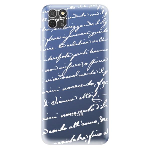 Odolné silikonové pouzdro iSaprio - Handwriting 01 - white - Honor 9S
