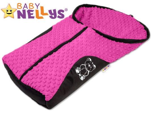 Fusák nejen do autosedačky Baby Nellys ® MINKY - růžový, amarant