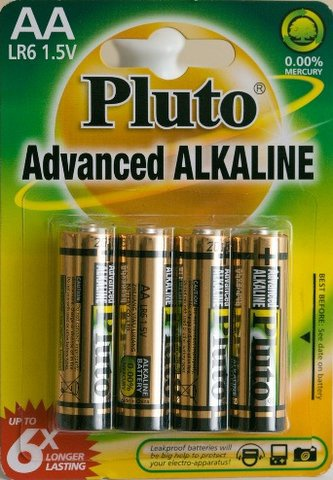 Baterie AA Pluto 4ks