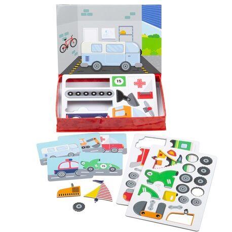 Bigjigs Toys Magnetické puzzle Mechanik - poškozený obal
